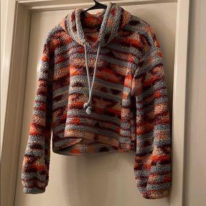 Multi-Color Sherpa Sweater